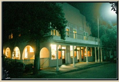 Weaverville Hotel Exterior at Night